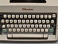 Keyboard of a German Olympia typewriter 1964.jpg