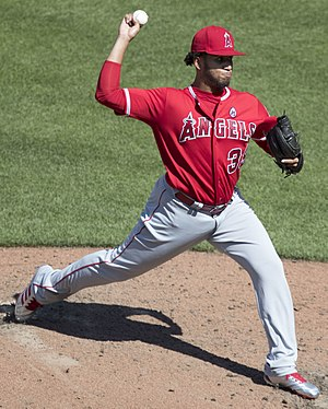 Keynan Middleton - Middleton pitching for the Angels