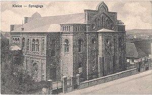 Kielce Ghetto - Kielce Synagogue during the interwar period