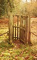 Kissing gate, Cyril Hart arboretum, Forest of Dean - geograph.org.uk - 1053516.jpg