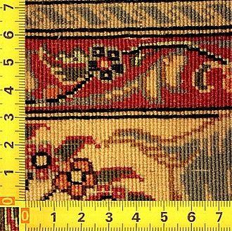 Knot density - Back side of a Qom rug with very high knot density