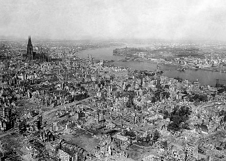 The devastation of Cologne, 1945