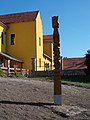Kopjafa memorial and Catholic elementary school, 2019 Tapolca.jpg