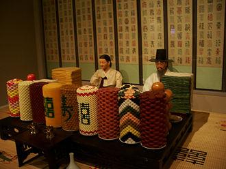 Hwangap - Image: Korea 60th birthday table