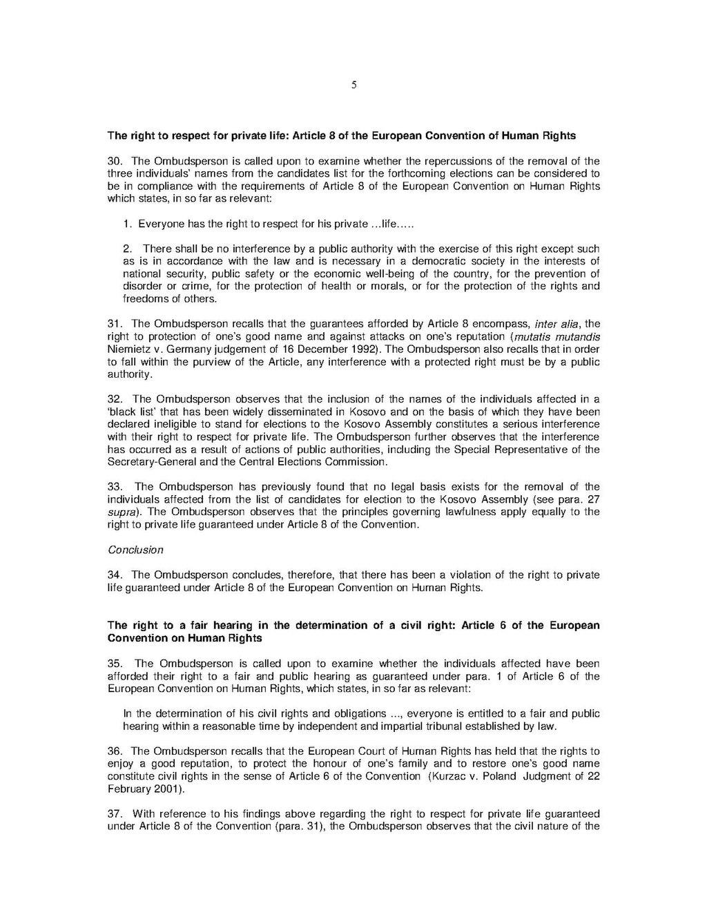 Page:Kosovo OMBUDSPERSON INSTITUTION in KOSOVO Regarding the Removal