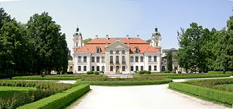 House of Zamoyski - Image: Kozłówka palace back 2007