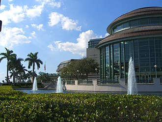 Kravis Center for the Performing Arts - Exterior view of venue (c.2007)