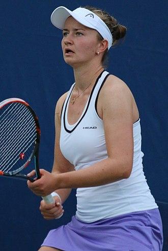 Barbora Krejčíková - Krejčíková at the 2016 US Open