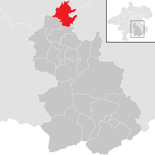 Location of the municipality of Kremsmünster in the Kirchdorf district (clickable map)