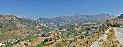 Crete: Mountains of Crete with Potamon barrier lake