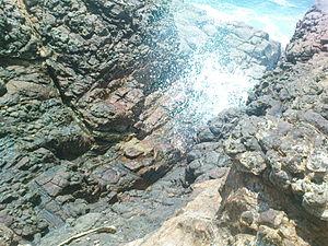 Blowhole (geology) - Image: Kudawella blowhole sri lanka
