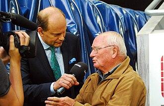 Kurt Hamrin - Hamrin being interviewed by Swedish television in 2015.