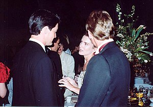 Lara Flynn Boyle - Boyle and Kyle MacLachlan at the Governor's Ball held immediately after the 1990 Emmy Awards.