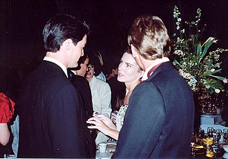 Lara Flynn Boyle - Boyle and Kyle MacLachlan at the Governor's Ball held immediately after the 1990 Emmy Awards