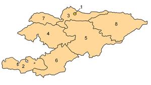 Kirgizistans provinser