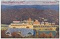 Lázně Luhačovice (střed lázní). Dle obrazu Skopalíkova, Štenc Praha. Prošlá poštou po roce 1908.jpg