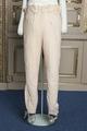 Långbyxor av beige kläde, 1800-talet - Livrustkammaren - 108343.tif