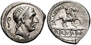 Marcia (gens) - Denarius of a Marcius Philippus.