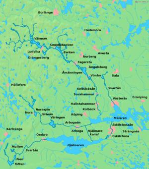 Bergslagen - Map of Bergslagen