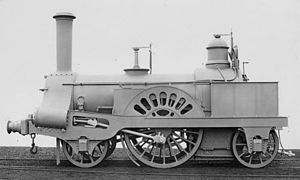 Crewe type (locomotive) - Image: LNWR 6ft 2 2 2 engine