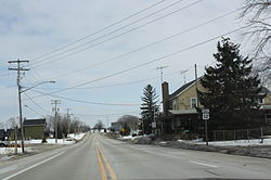 Looking east at downtown La Grange on U.S. Route 12