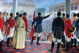 Proclamación de la Independencia del Perú .