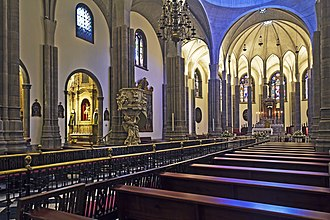 La Laguna Cathedral - Interior of the cathedral