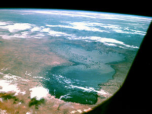 Lake Chad - Photograph taken by Apollo 7, October 1968