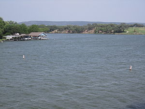 Lake Lyndon B. Johnson - Lake LBJ at the intersection of Llano and Burnet counties in the Texas Hill Country.