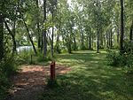 Lakeside hole at Lochness Park disc golf course.JPG