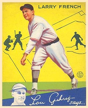 English: 1934 Goudey baseball card of Larry Fr...