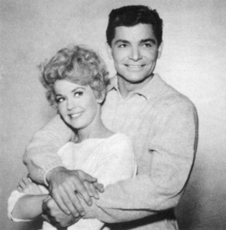 Larry Pennell - Larry Pennell as Dash Riprock with Donna Douglas as Elly May from The Beverly Hillbillies, ca. 1967