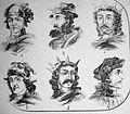 """Las Glorias Nacionales, 1852 Nº VIII. De Reyes de España. 1. Don Ramiro 2. Don Ordoño 3. Don Alonso III 4. Don García 5. Don Ordoño II 6. Don Fruela II"""". (4013950322).jpg"""