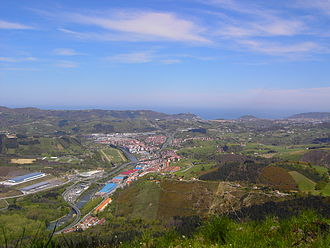 Lasarte-Oria - View of the town from the south (at Buruntza mountain)