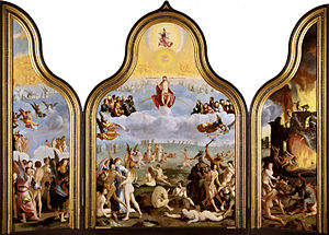 1527 in art - Image: Last Judgement, by Lucas van Leyden