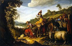 Pieter Lastman: Abraham on the Road to Canaan