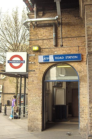 Latimer Road tube station - Station entrance