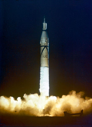 1958 in spaceflight - A Juno I launches the first American satellite, Explorer 1