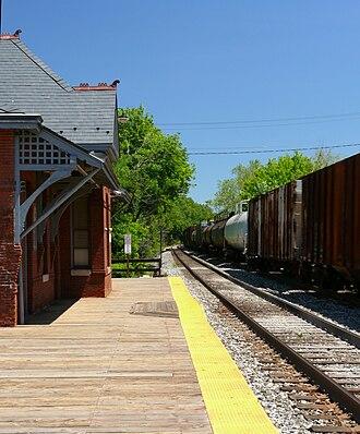 Laurel station (MARC) - Image: Laurel RR Depot