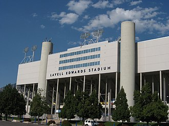 LaVell Edwards Stadium - West exterior in 2007