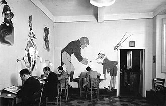 The Adventures of Pinocchio (unfinished film) - The animators of the film.
