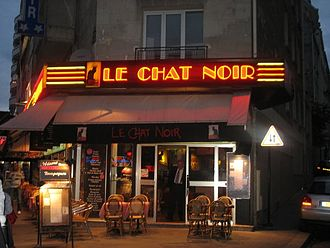 Le Chat Noir - Modern appearance of the last site of Le Chat Noir at 68, Boulevard de Clichy