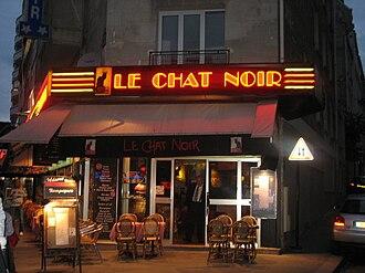 Le Chat Noir - Modern appearance of the last site of Le Chat Noir at 68, Boulevard de Clichy