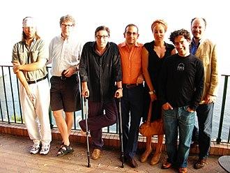 "Antonio Monda - At ""Le Conversazioni"" (Capri, 2006) with David Foster Wallace, Jonathan Franzen, Davide Azzolini, Zadie Smith, Nathan Englander and Jeffrey Eugenides"