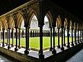 Le Mont-Saint-Michel Abbaye de Mont-Saint-Michel Cloître 07.jpg