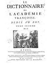 Le dictionnaire de l'Academie françoise - 1694 - T2 - M-Q.djvu