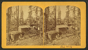 Leadville Historic District - Stereoscopic view of Leadville – circa 1870?