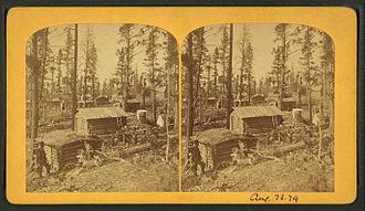 Leadville Historic District - Stereoscopic view of Leadville – circa 1870?