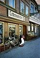 Lebensmittel Penguin, Vogtei, Halberstadt, (Heute Cafe & Restaurant Alt Halbestadt), DDR May 1990 (5244434875).jpg
