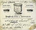 Leeches Reciept London 1870.jpg